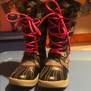 Totes Girls Size 12 Winter Boots